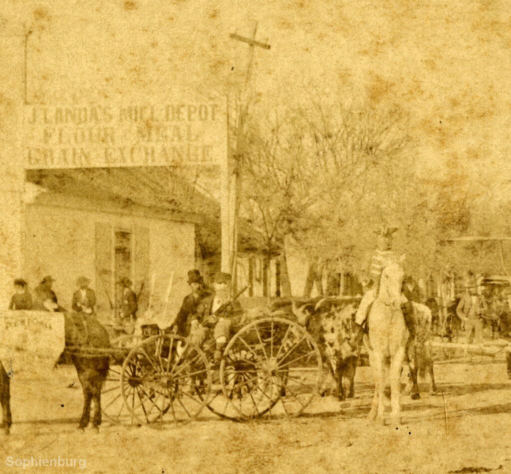 25th Parade participants on Main Plaza, May 16, 1870.