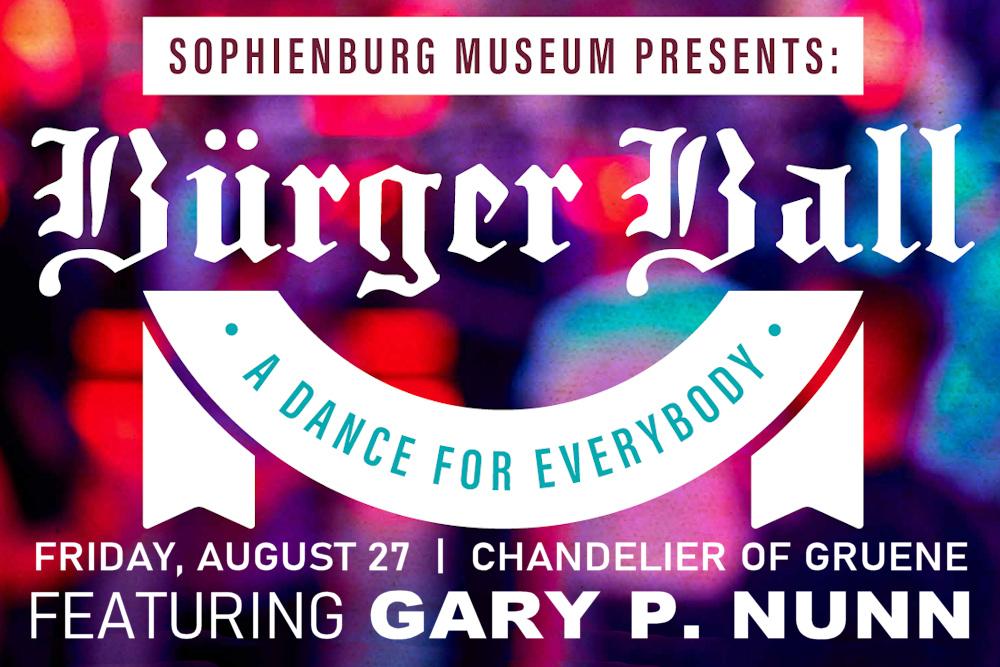 Buerger Ball - A Dance for Everybody - August 27 - Chandelier of Gruene